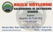 Kozlu Köylerini Kalkındırma Ve Dayanışma Derneği
